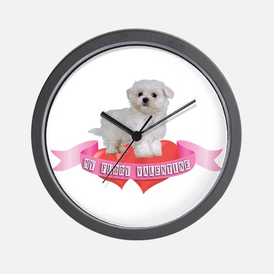 Maltese Valentine Wall Clock