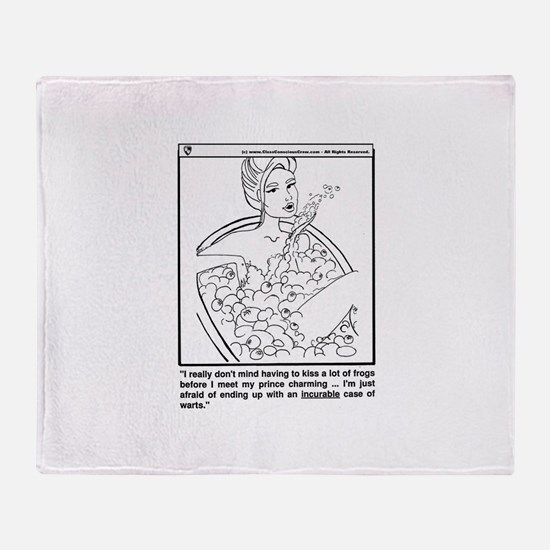 Cool Prince charming Throw Blanket