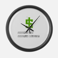 Cash Blessings Large Wall Clock