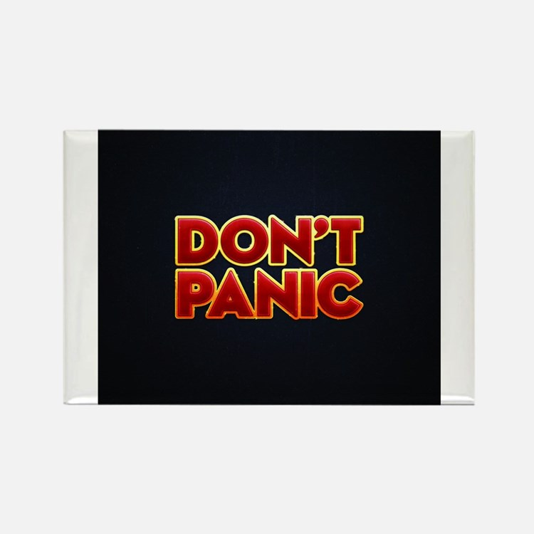 Cute Hitchhikers guide to the galaxy Rectangle Magnet