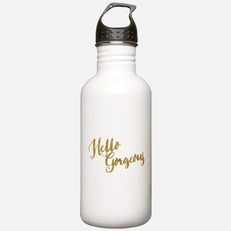 Hello Gorgeous Faux Gold Water Bottle