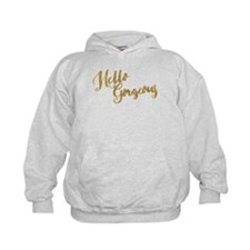 Hello Gorgeous Faux Gold Hoodie