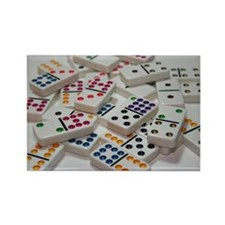 Funny Dominoes Rectangle Magnet (10 pack)