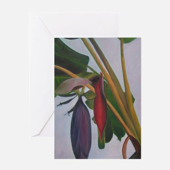 Banana inflorescense two Greeting Cards