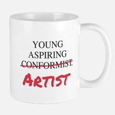 Young Aspiring Conformist Artist Mugs