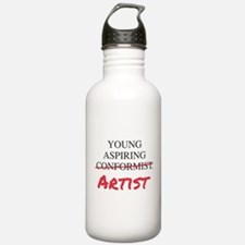Young Aspiring Conformist Artist Water Bottle