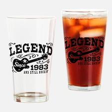 Legend Since 1983 Drinking Glass