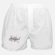 Abbigail Artistic Name Design with Fl Boxer Shorts