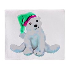 Cute Polar Bear Design by Leslie Har Throw Blanket