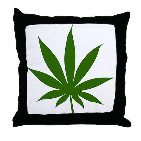 Marijuana Leaf Throw Pillow
