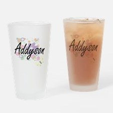 Addyson Artistic Name Design with F Drinking Glass