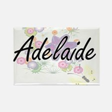 Adelaide Artistic Name Design with Flowers Magnets