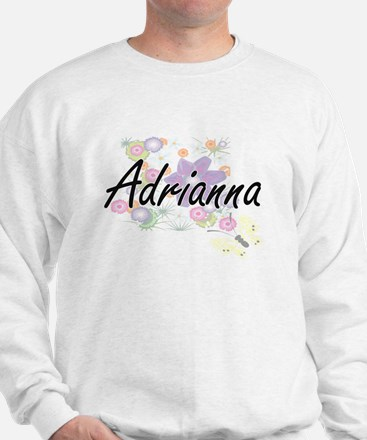 Adrianna Artistic Name Design with Flow Sweater