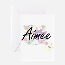 Aimee Artistic Name Design with Flo Greeting Cards