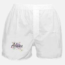 Alaina Artistic Name Design with Flow Boxer Shorts