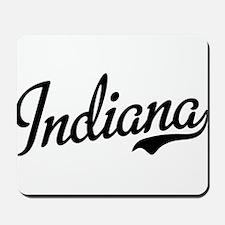 Indiana Script Black Mousepad
