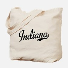 Indiana Script Black Tote Bag