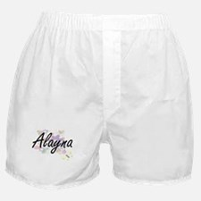 Alayna Artistic Name Design with Flow Boxer Shorts