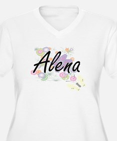 Alena Artistic Name Design with Plus Size T-Shirt