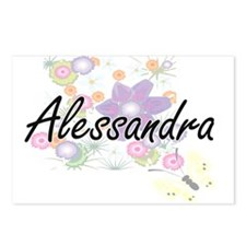 Alessandra Artistic Name Postcards (Package of 8)