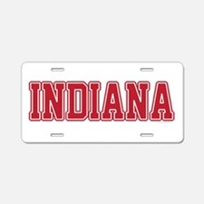 Indiana Jersey Red Aluminum License Plate