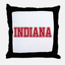Indiana Jersey Red Throw Pillow