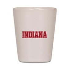 Indiana Jersey Red Shot Glass
