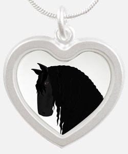 Friesian Silver Heart Necklace