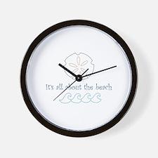 The Beach Applique Wall Clock