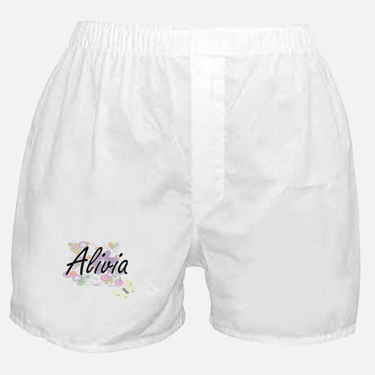 Alivia Artistic Name Design with Flow Boxer Shorts