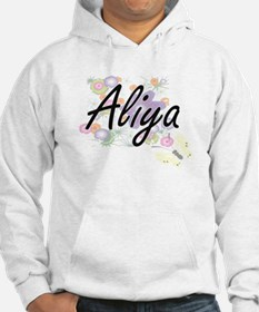 Aliya Artistic Name Design with Hoodie Sweatshirt