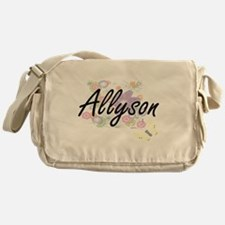 Allyson Artistic Name Design with Fl Messenger Bag