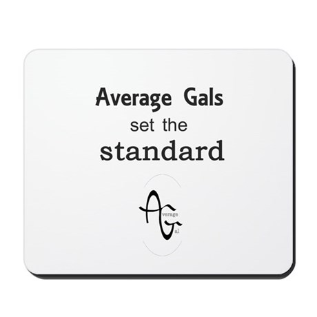Average Gal Standard OvalLogo Mousepad by averageguy