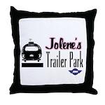 Jolene's Trailer Park Retro Throw Pillow