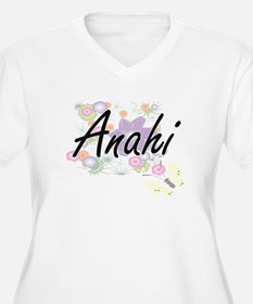 Anahi Artistic Name Design with Plus Size T-Shirt