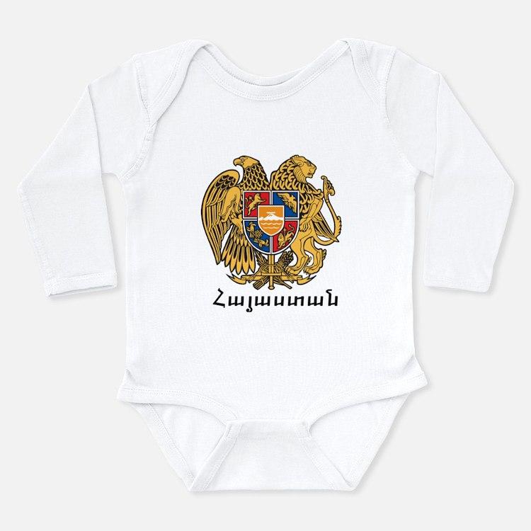 Cute Armenia Long Sleeve Infant Bodysuit