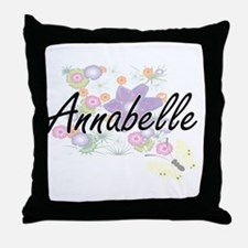 Annabelle Artistic Name Design with F Throw Pillow