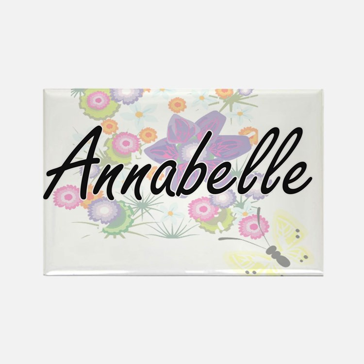 Annabelle Artistic Name Design with Flower Magnets