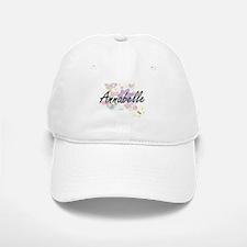 Annabelle Artistic Name Design with Flowers Baseball Baseball Cap