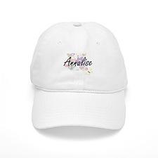 Annalise Artistic Name Design with Flowers Baseball Cap