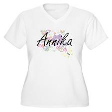 Annika Artistic Name Design with Plus Size T-Shirt