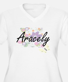 Aracely Artistic Name Design wit Plus Size T-Shirt