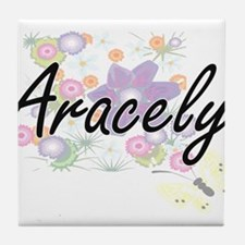 Aracely Artistic Name Design with Flo Tile Coaster