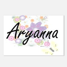 Aryanna Artistic Name Des Postcards (Package of 8)
