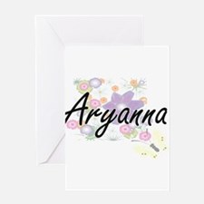 Aryanna Artistic Name Design with F Greeting Cards