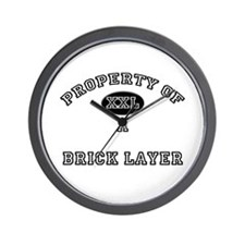 Property of a Brick Layer Wall Clock