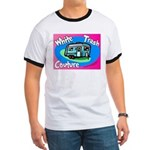 White Trash Couture BluePink Ringer T
