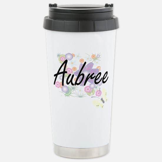 Aubree Artistic Name De Stainless Steel Travel Mug