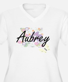 Aubrey Artistic Name Design with Plus Size T-Shirt