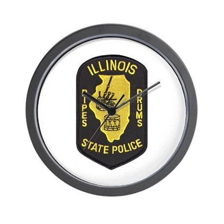 Illinois SP Pipes & Drums Wall Clock